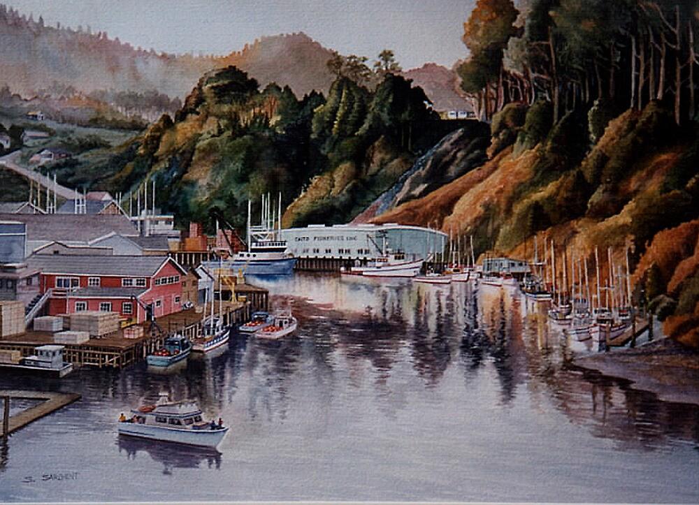 Noyo Harbor at Dawn by Sally Sargent