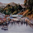 Noyo Harbor at Dawn by Sally Sargent
