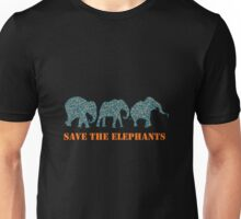 Save the Elephants Paisley Pattern Unisex T-Shirt