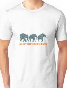 Save the Elephants Paisley Pattern Unisex T-Shirt