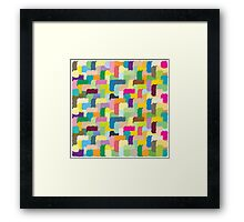 Color texture Framed Print