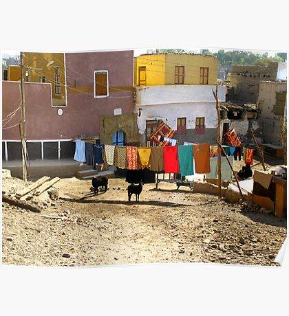 Wash Day - Nubian Village Poster