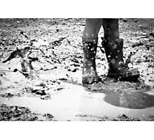 Puddle Stomping Photographic Print