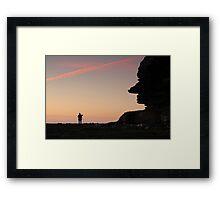 Headland Looking At Hill Framed Print