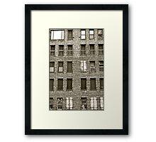 building blocks crumble Framed Print