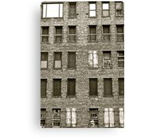 building blocks crumble Canvas Print