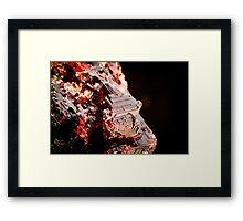 Etched Spessartine Garnet - Brazil Framed Print