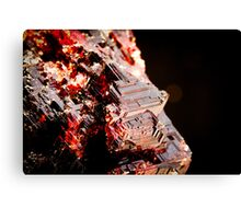 Etched Spessartine Garnet - Brazil Canvas Print