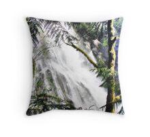 Waterfall in Washington - Sketch Throw Pillow