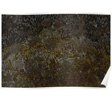 mineral painting - edge of a fumorole (no 1)  Poster