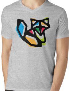 Rainbow Anigami Fox Mens V-Neck T-Shirt