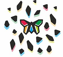 Rainbow Anigami Butterfly by XOOXOO