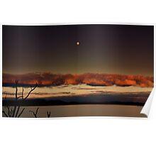 moonlight,lake fyans Poster