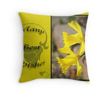 Many Best Wishes Throw Pillow