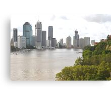 Brisbane City from Kangaroo Point Canvas Print