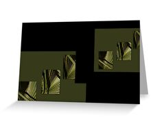the beauty of natural green and my love of palm fronds  Greeting Card