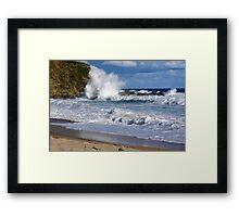 Ocean Fury Framed Print