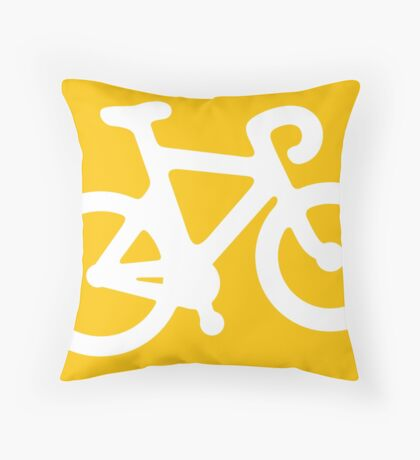 Yellow Bike Throw Pillow