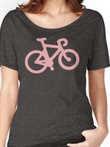Baby Pink Bike with Stripes Women's Relaxed Fit T-Shirt