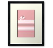 Baby Pink Bike with Stripes Framed Print