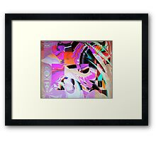 Images within an artist's dream Framed Print