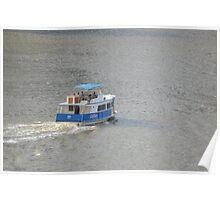 Brisbane City cross river ferry Poster