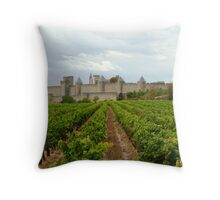 Vineyards Of Carcassone Throw Pillow