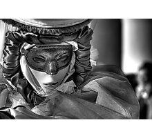 Venice - Carnival Mask  2011....01 - B&W Photographic Print