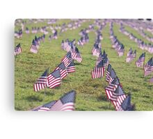American Flag Array Canvas Print