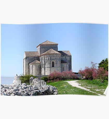 Church of St Radegonde  Talmont sur Gironde Poster