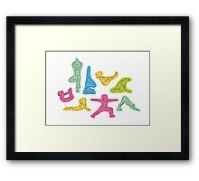 Rainbow Yoga Pattern Framed Print
