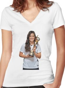 Ali Krieger - World Cup Women's Fitted V-Neck T-Shirt