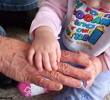 Old and young hands by Darren Stein