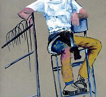 Girl on a Stool by Victoria limerick