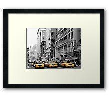 NY Taxis Framed Print