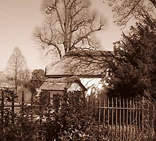 Old dairy at Blaise Castle. In B/W by Heather Goodwin