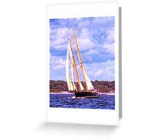 Sailing Along The Coast Greeting Card
