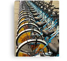 Bicycle Stacks-downtown Beijing Canvas Print