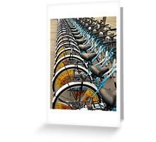 Bicycle Stacks-downtown Beijing Greeting Card
