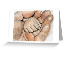 Baby fist Greeting Card