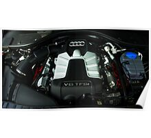 Audi A6 3.0 V6 TFSI Engine Poster