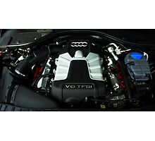 Audi A6 3.0 V6 TFSI Engine Photographic Print
