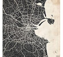 Dublin map Photographic Print