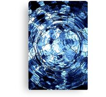 Blue Web Canvas Print