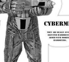 Cybermen Hairdressers Sticker