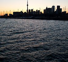 Toronto Harbour, Downtown & Polson Quay From Cherry Street by Gary Chapple