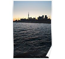 Toronto Harbour, Downtown & Polson Quay From Cherry Street Poster