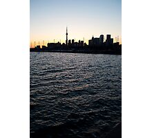 Toronto Harbour, Downtown & Polson Quay From Cherry Street Photographic Print