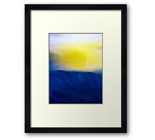 A Fleeting Spring Moment An abstract impression Framed Print