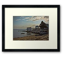 Slowly Slipping Into The Sea (HDR) Framed Print